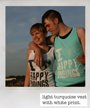 turquiose Happy Endings vest